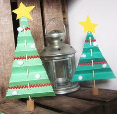 Sapin de Noël accordéon de papier