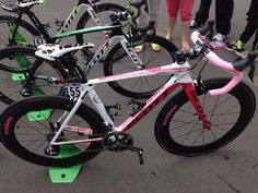 OPQS's Micheal Matthews custom pink Scott bike for the 4th stage of the Giro D'Italia 2014