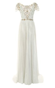 Embroidered Elven Chiffon Gown....love <3