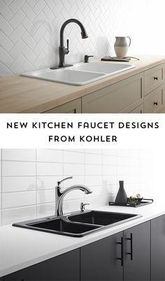 Planning a kitchen renovation or just looking for a quick and easy way to update your sink? Check out these beautiful new Kohler kitchen faucet designs! #KohlerIdeas #ad