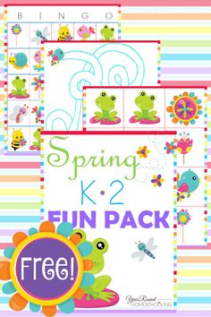 Free Spring K-2 Fun Pack - Year Round Homeschooling