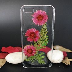 Pretty Customize Plastic Red Daisy Cell Phonecase for Iphone 6. Material: Plastic, Dry flower, Resin. Durable,flexible and not easy to fly off. Transparent and good for protect your phone. Handmade items with excellent quality. Please contact us if you have any question.