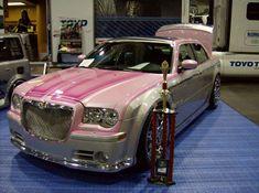 Pink Chrysler 300