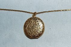 Vintage / Locket / Floral / Gold Tone / Chain by AmericanHomestead, $8.50