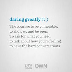 By redefining vulnerability, Brené Brown is helping us all learn to open up to joy, creativity, faith, and love. Super soulers, how will you dare greatly?
