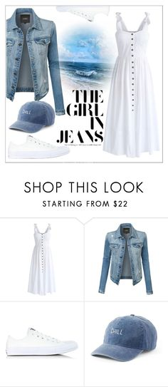 """""""Untitled #631"""" by chanlee-luv ❤ liked on Polyvore featuring Chicwish, LE3NO, Converse and SO"""