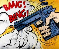 pop art gun bang - Google Search
