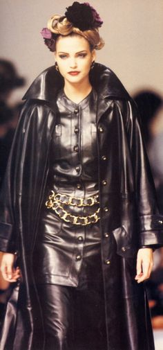 .sumptuous confection of shiny brown leather