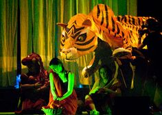 Jungle Book Scouts mask Kipling giant puppet Shere Khan tiger