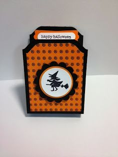 Halloween Hello Tic Tac Holder Weekend Project Stampin' Up! Rubber Stamping Halloween candy gifts