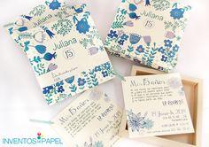 #flores para tus tarjetas. Una idea muy #ecologica Wedding Invitation Design, Wedding Decorations, Birthday, Party, Den, Editorial, Weddings, 15 Years, Invitations