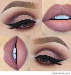 eye makeup Perfektes Make-Up fr Braune Augen! Perfektes Make-Up fr Braune Augen! Matte Makeup, Matte Eyeshadow, Eyeshadow Makeup, Contour Makeup, Makeup Art, Lip Makeup, Makeup Ideas, Makeup Inspiration, Eyeshadow Ideas