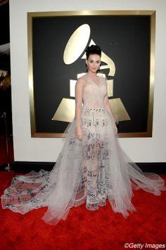 Grammy Awards 2014: les robes de stars (Katty Perry en Valentino) Photo : Getty Images | Elle Québec