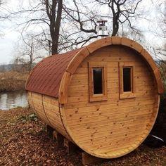 Aspen, Fenetre Double Vitrage, Barrel Sauna, Traditional Saunas, Changing Room, Outdoor Structures, Exterior, Outdoor Decor, Pine