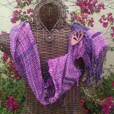 Easter SAORI scarf