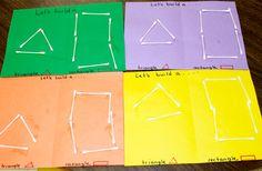 Make shapes using Q-Tips like Mom to 2 Posh Lil Divas