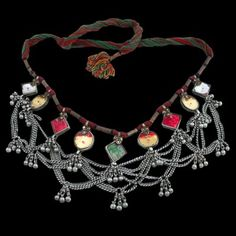 Antique Tribal And Ethnic Indian Silver Necklaces - Rabari  This piece is stunning