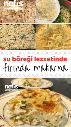10 Minuets : Baked Pasta (Water Pastry Flavor) How is the recipe made? Turkish Recipes, Greek Recipes, Ethnic Recipes, Pasta Recipes, Cooking Recipes, Fast Easy Dinner, Most Delicious Recipe, Fast Dinners, Pasta Bake