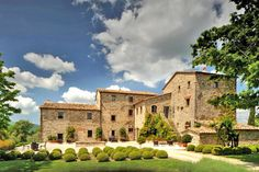 Converted farmhouse into a luxury villa in Tuscany. Beautiful.