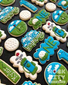 Golf Cookies, Fancy Cookies, Iced Cookies, Cut Out Cookies, Cute Cookies, How To Make Cookies, Cupcake Cookies, Sugar Cookies, Cookies Et Biscuits