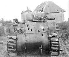 M4A1 knocked out by a Panther from the Panzer Lehr Division on July 20 '44.