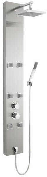 Easton thermostatic shower panel in stainless steel. Only £245 at Taps4Less https://www.taps4less.com/PP/U-AS374.html