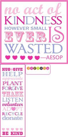 PersonaGiftPail.com/blog Random Acts of Kindness printables