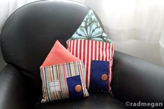 radmegan: in words and pictures: Inspired by Pinterest: Neighborhood Pillows
