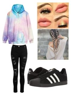 """""""🌈"""" by stefanie-ege on Polyvore featuring Dorothy Perkins and adidas"""