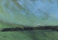 Abstract landscape painting by Paul Bailey: Line of trees