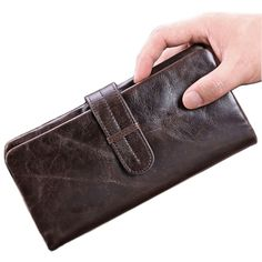 Check it on our site New Barnd Genuine leather Men Organizer Wallet Vintage Oil Wax Money Purse Card holder Phone Coin Package Zipper Clutch Bag just only $14.30 with free shipping worldwide  #walletsformen Plese click on picture to see our special price for you