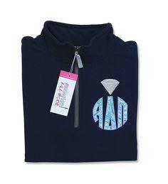 Alpha Delta Pi 1/4 Zip Greek Sorority Circle Monogram Sweatshirt