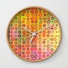 A colorful wall #clock that will add color to any room of your house. @society6