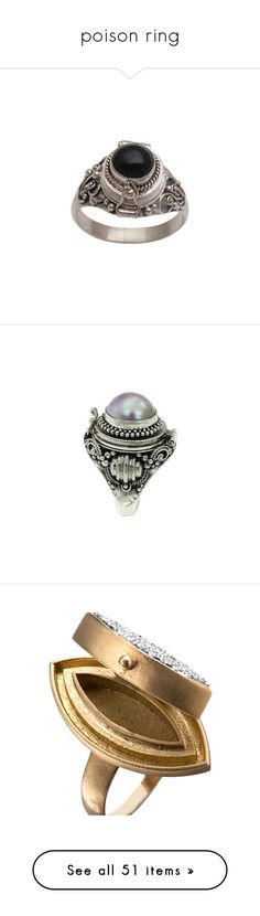 """poison ring"" by rebellious-ingenue ❤ liked on Polyvore featuring jewelry, rings, locket, onyx, sterling silver locket ring, sterling silver onyx ring, sterling silver circle ring, onyx jewelry, sterling silver jewelry and clothing & accessories"