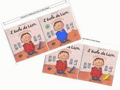 L'école de Léon: jeu des différences Lion, Education Positive, Ms Gs, Literacy Centers, Kindergarten, Teaching, Comics, School, Back To School