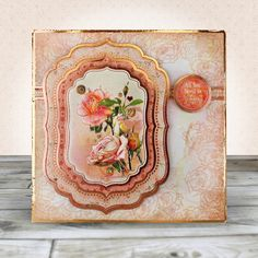 Card created using Hunkydory Crafts' Rose Gold Moments - Where Flowers Bloom Topper Set