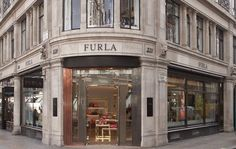 Furla flagship store at Regent Street by HMKM, London – UK Visual Merchandising, Vogue Fashion Night, Greater London, Design Furniture, Furla, Soho, Christmas Lights, Around The Worlds, Store Design