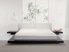 Futonbett - Holzbett - Bett 180x200 cm - Japan Design - Lederbett - ZEN ab Fabrik mit tiefen Preisen - 100 Tage Rückgaberecht - #1 in Deutschland