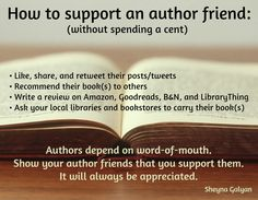 How to support an author friend without spending a cent!