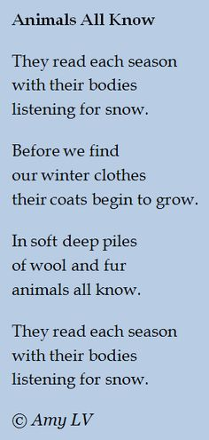The Poem Farm: Fluffing Up for Winter & Poem #231 - A circular poem about fluffy puffy animals (and cute photos too!) from The Poem Farm, Amy Ludwig VanDerwater's ad-free, searchable blog full of hundreds of poems, poem mini lessons, and poetry ideas for home and classroom - www.poemfarm.amylv.com