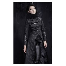 Steampunk visual gothic wild coat and rebel long version coat cultivate one's morality women's windbreaker coat on the stage //Price: $US $76.00 & Up To 18% Cashback //     #steampunk