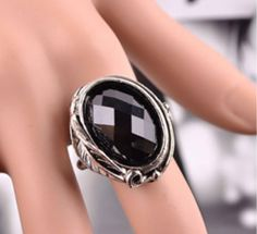 Dabao Ring Exaggerated Big Ring Punk Gothic Tail Ring Set Auger