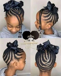Little Girls Natural Hairstyles, Toddler Braided Hairstyles, Little Girl Braid Hairstyles, Black Kids Hairstyles, Baby Girl Hairstyles, Protective Hairstyles, Hairstyles 2018, Wedding Hairstyles, Protective Styles