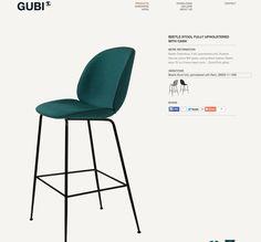 Gubi Beetle bar stool