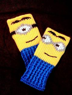 Check out this item in my Etsy shop https://www.etsy.com/listing/533932258/fingerless-gloves-wrist-warmers-minions