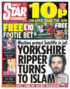 """""""Daily Star Sunday: Yorkshire Ripper turns to Islam Daily Star, News Online, Bbc News, Yorkshire, Sunday, Islam, September, Domingo, Yorkshire Terrier Puppies"""
