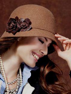 197 Best Beautiful Photo of Woman Classic Hats images  faeecc9581c