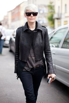 Street Style: Kate Lanphear shows her love of all things hide.