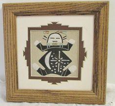 Navajo Sand Painting Art Framed  7.5 x 3.5 inch by DebsPickerSouL