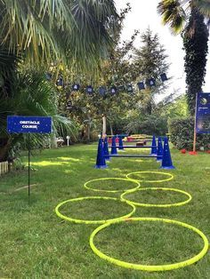 Outdoor activities at a Star Wars birthday party! See more party ideas at CatchMyParty.com!